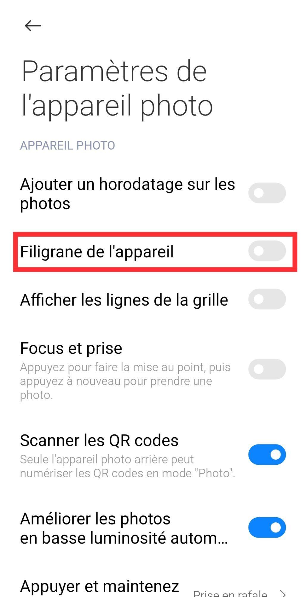 desactiver-filigrane-photo-smartphone-xiaomi