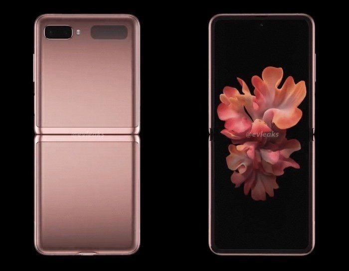 galaxy z flip 5G mystic bronze design