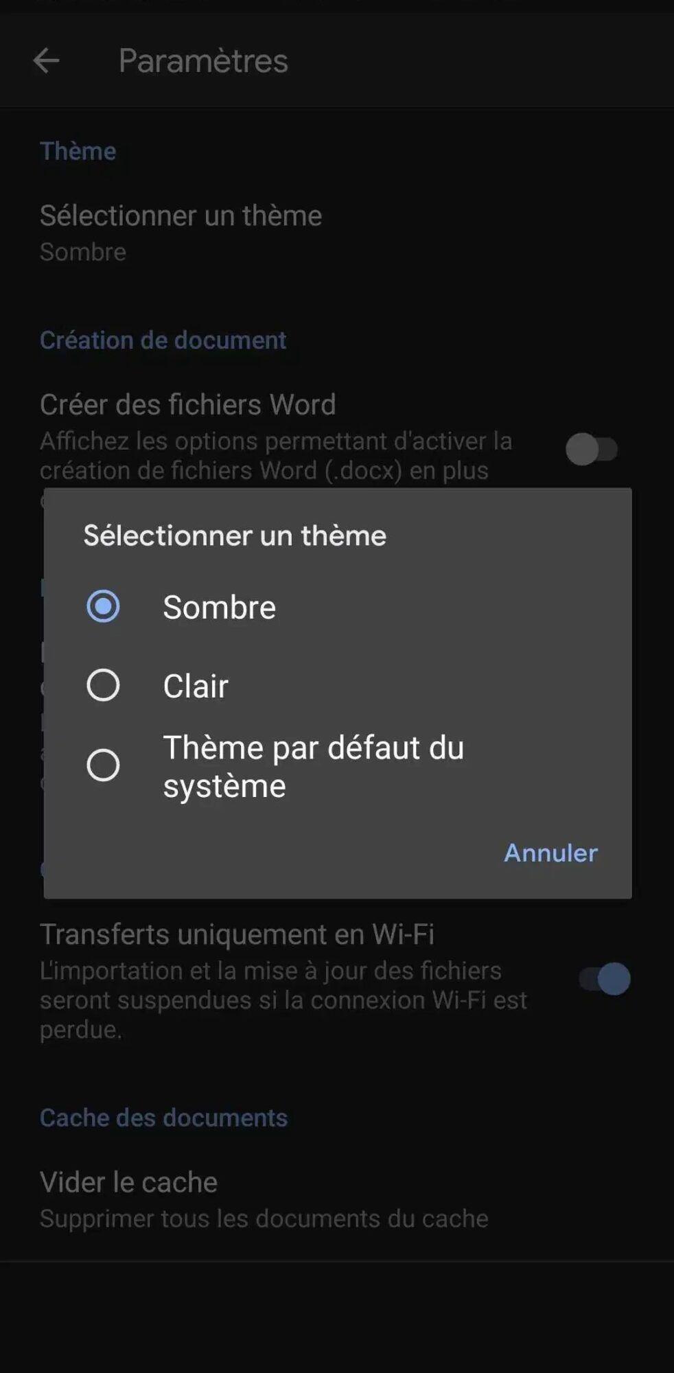 google-docs-activer-mode-sombre