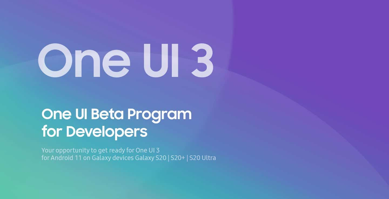 , Samsung One UI 3 disponible en bêta pour les  développeurs
