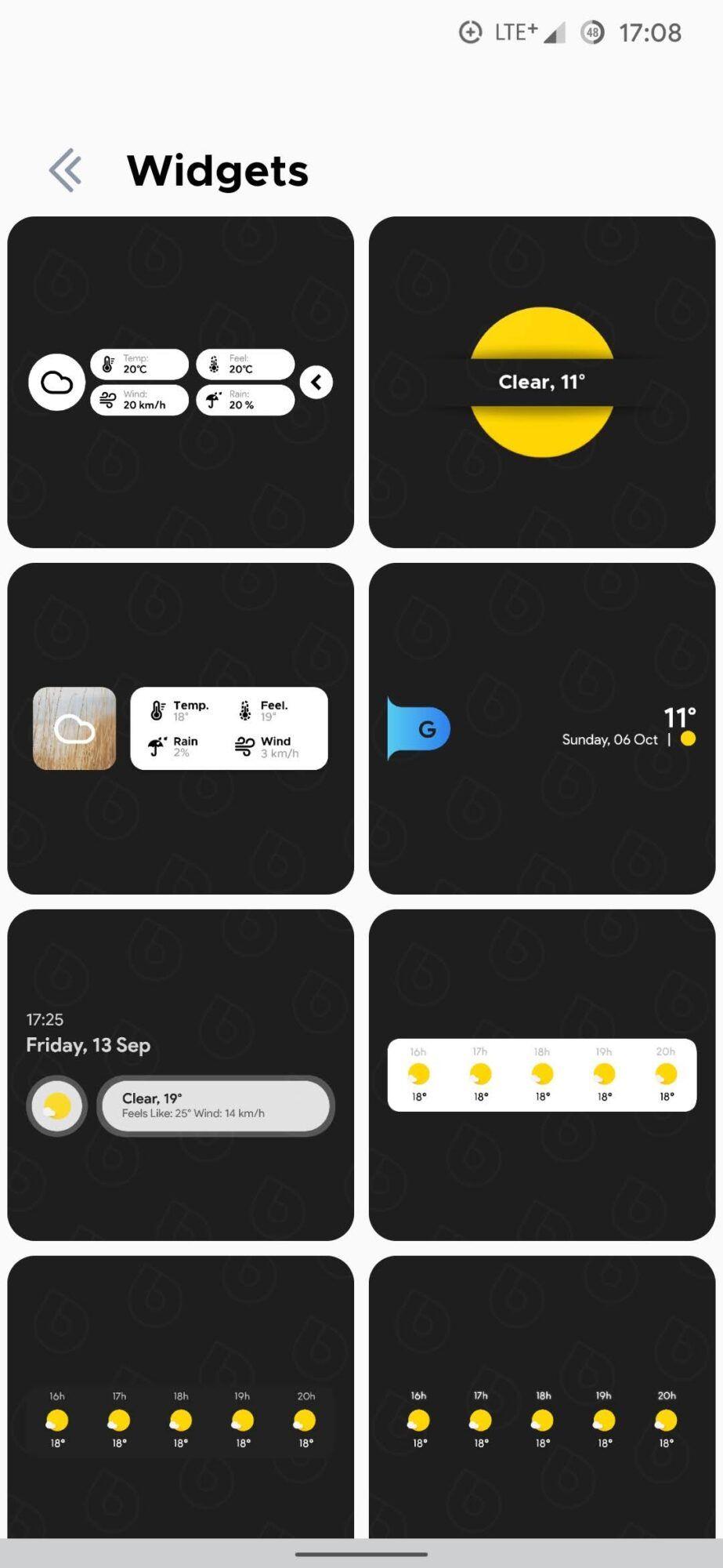 widgets overdrop weather
