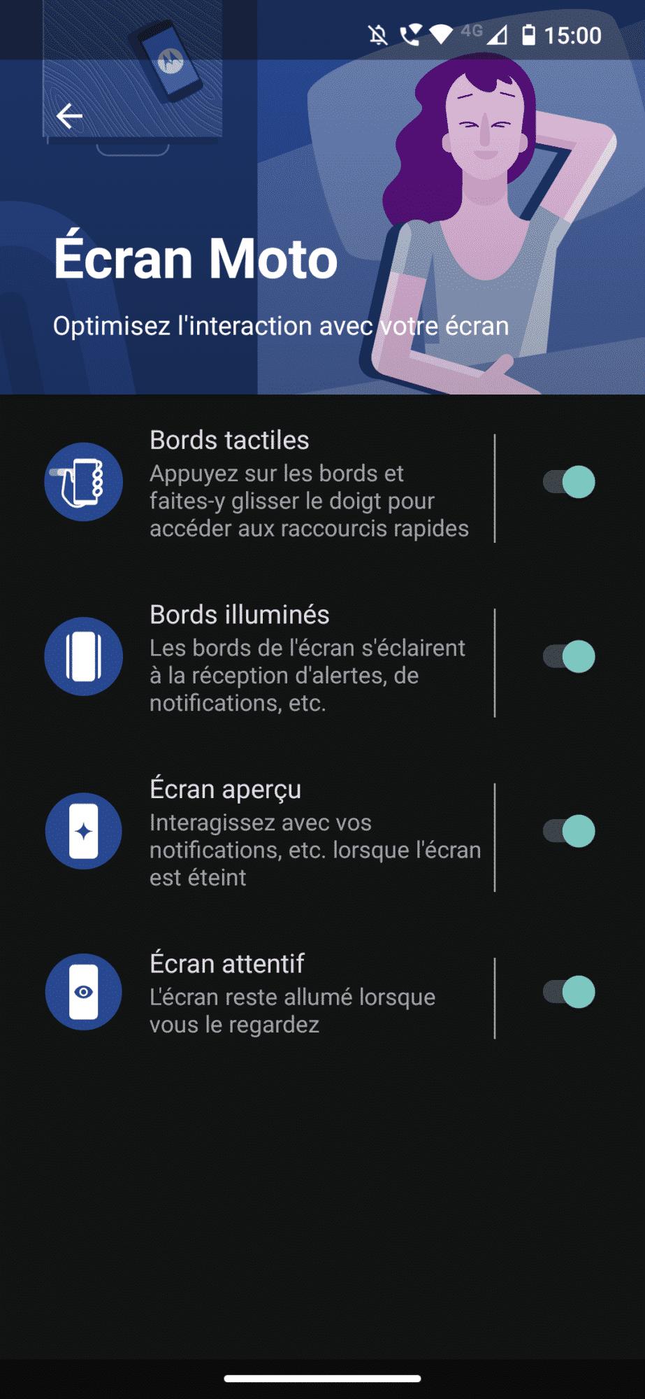 Motorola Edge | Ecran