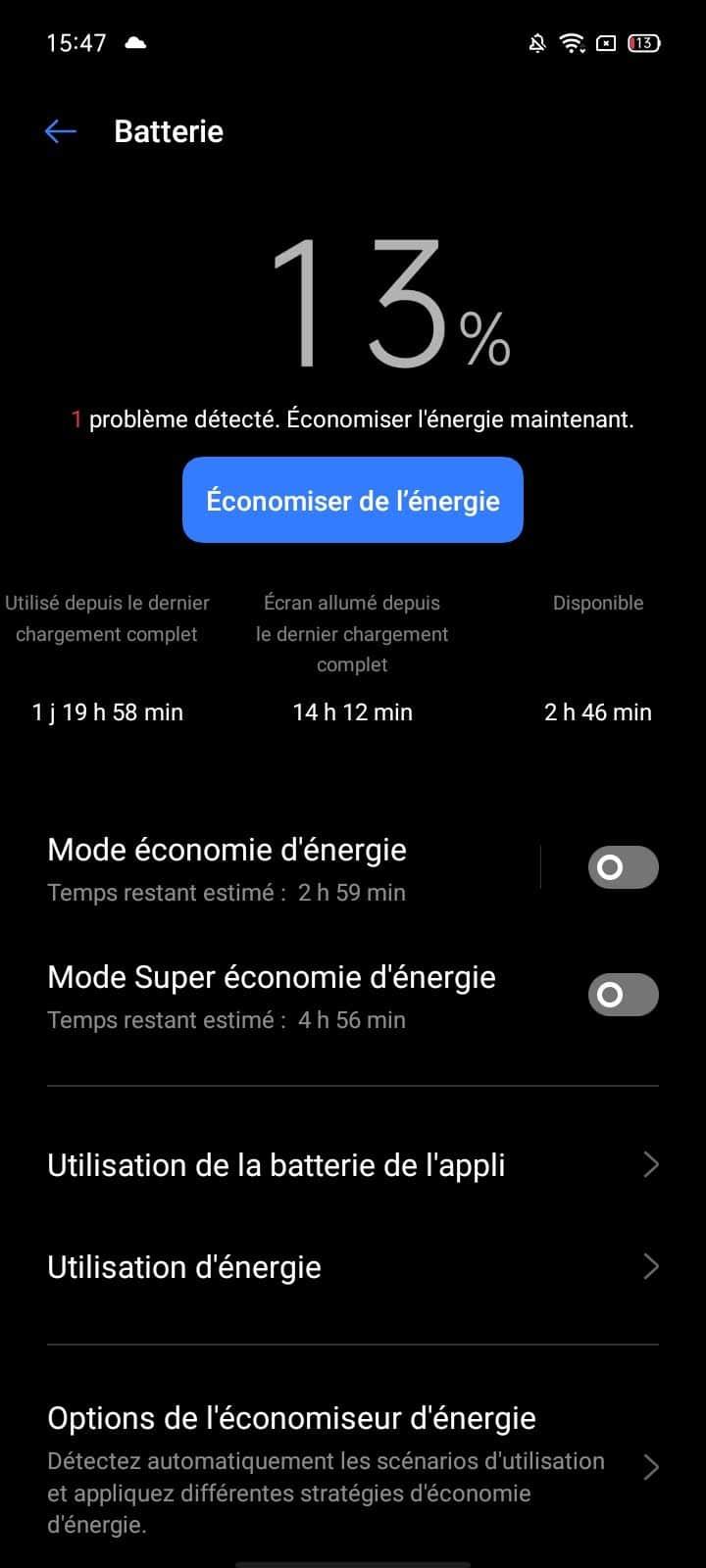 Autonomie Wi-Fi Realme C11
