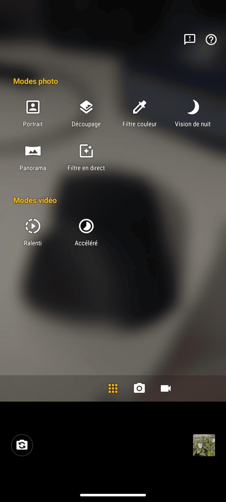 Modes Photos caméra arrière Moto E7 Plus