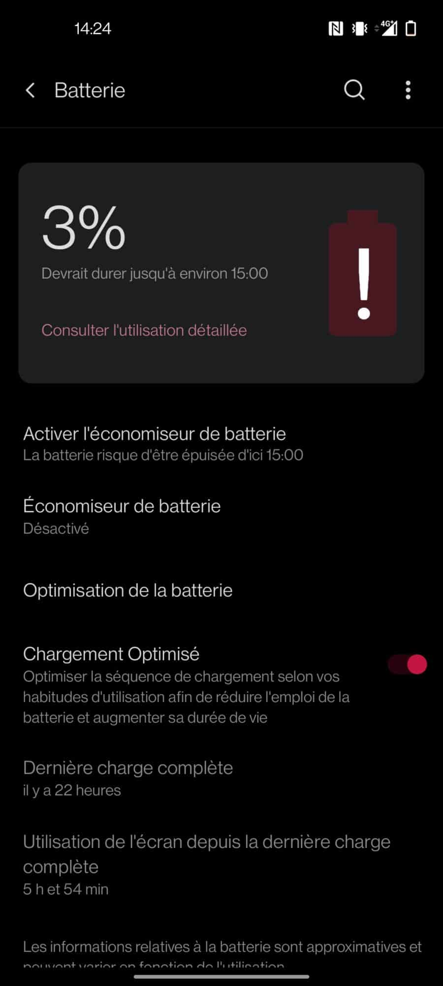 Autonomie OnePlus 8T