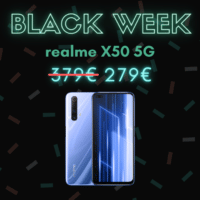 100 euros de réduction sur le realme X50 5G – Black Week