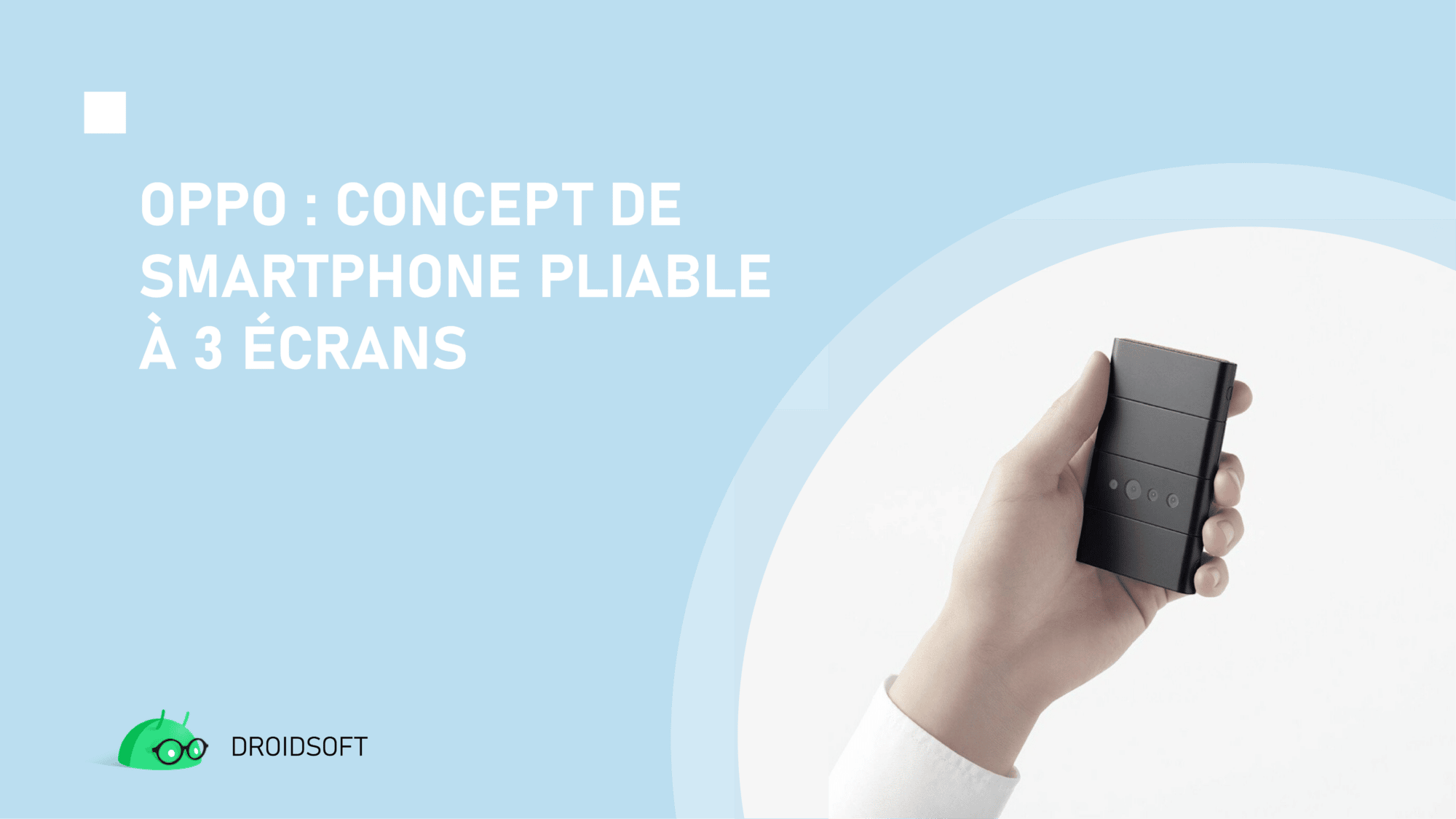 Oppo, concept de smartphone pliable à 3 écrans