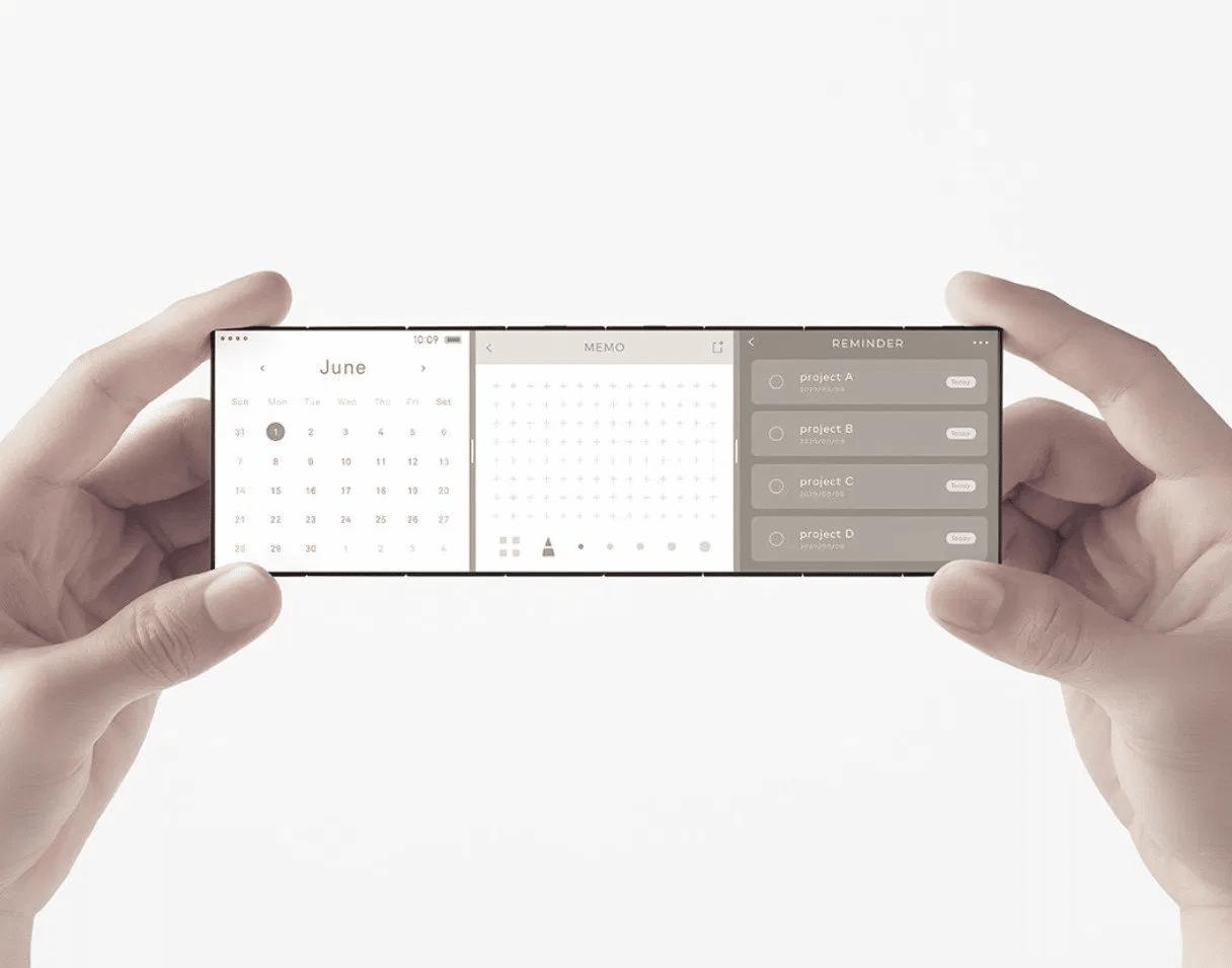 concept, Oppo : concept de smartphone pliable à 3 écrans