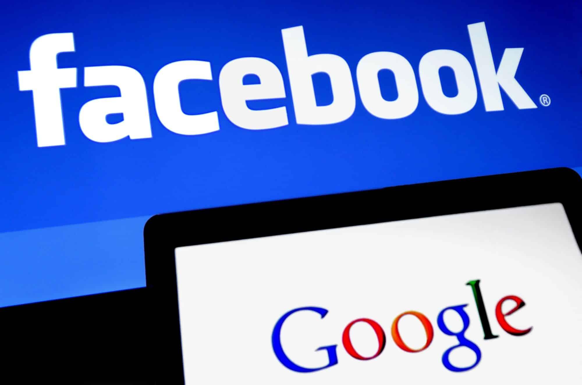 , Facebook et Google unis contre des poursuites d'Antitrust