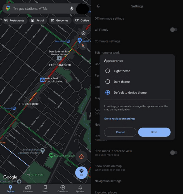 activer-mode-sombre-google-maps-android