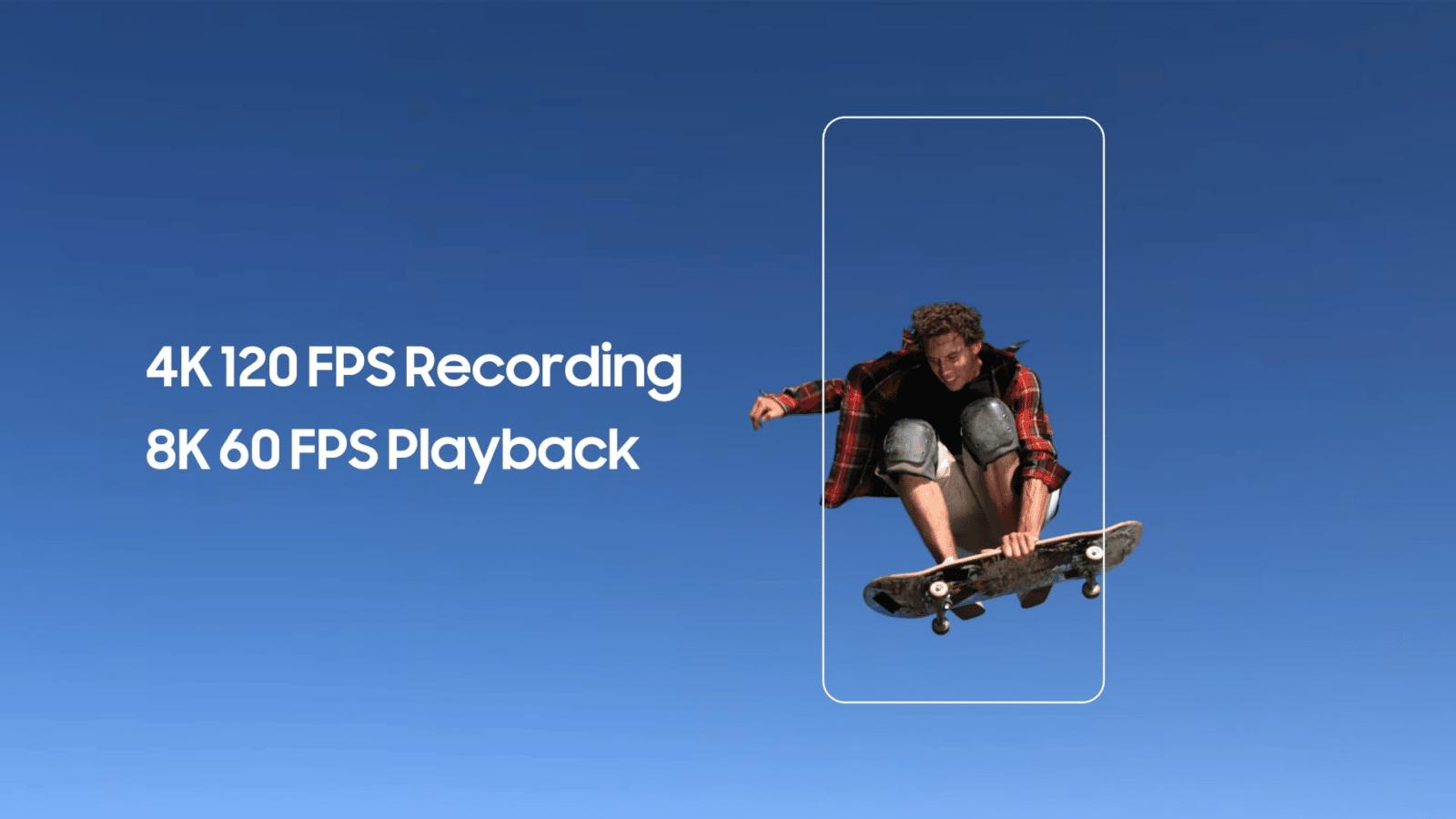 Exynos 2100 4K120 FPS 8K60 FPS