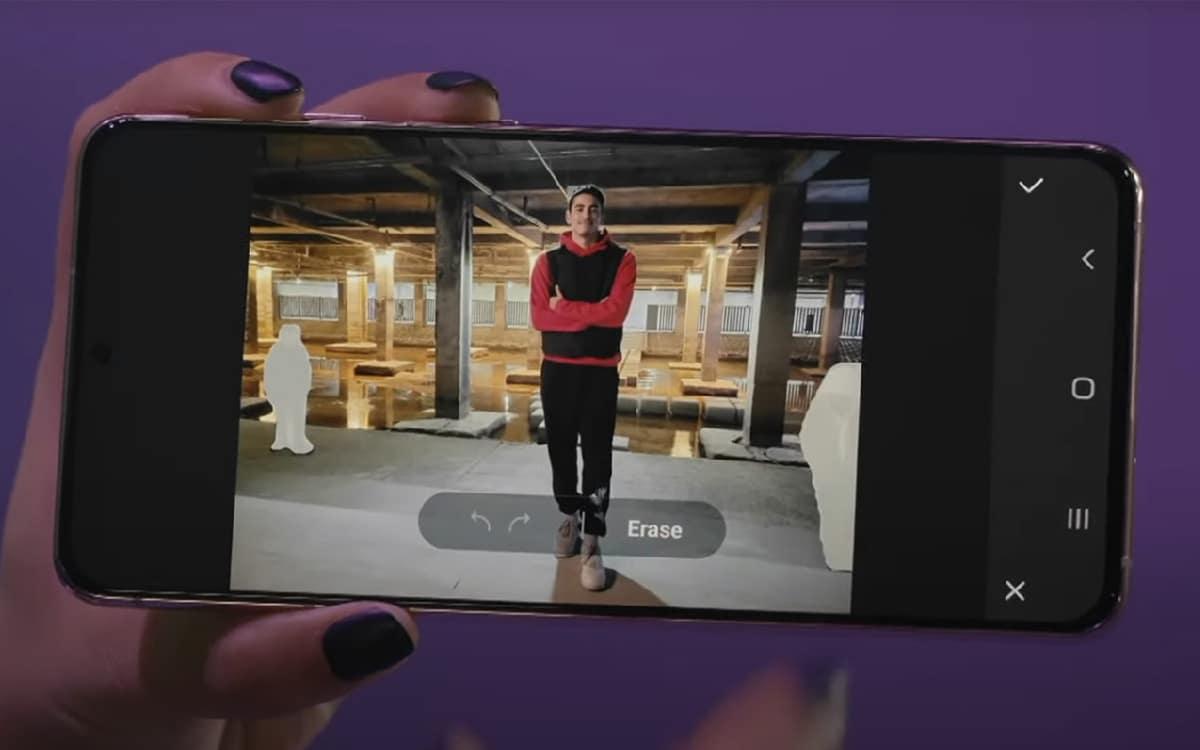 , One UI 3.0 : Samsung présente une fonctionnalité capable d'effacer des objets de ses photos