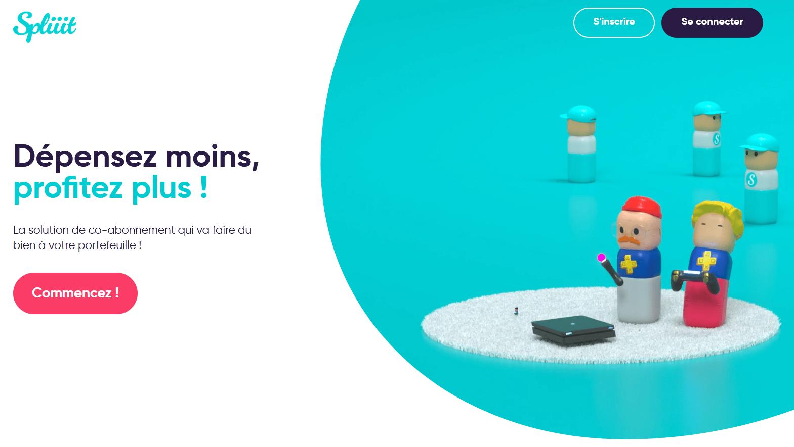 Page d'accueil de Spliiit