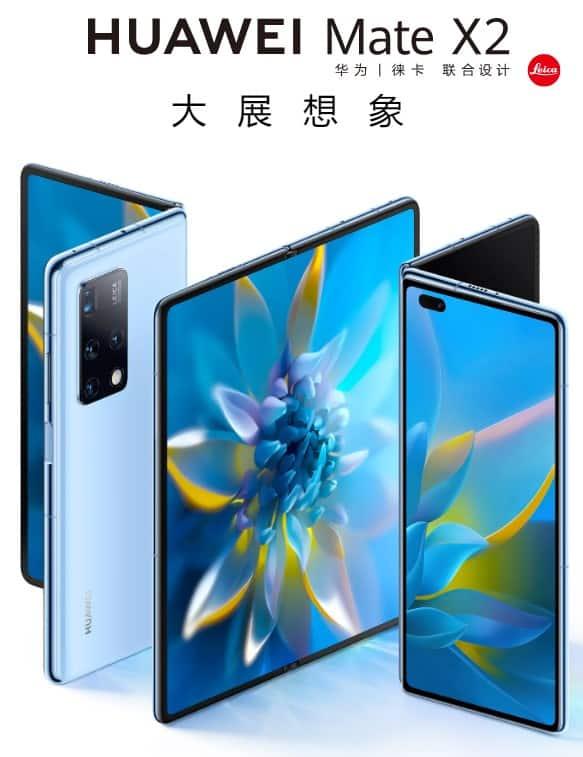 Huawei Mate X2 faces appareil photo capteurs