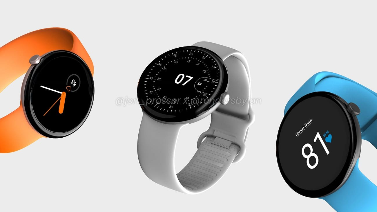 , Google Pixel Watch : la montre connectée tout en sobriété se dévoile en rendus 3D
