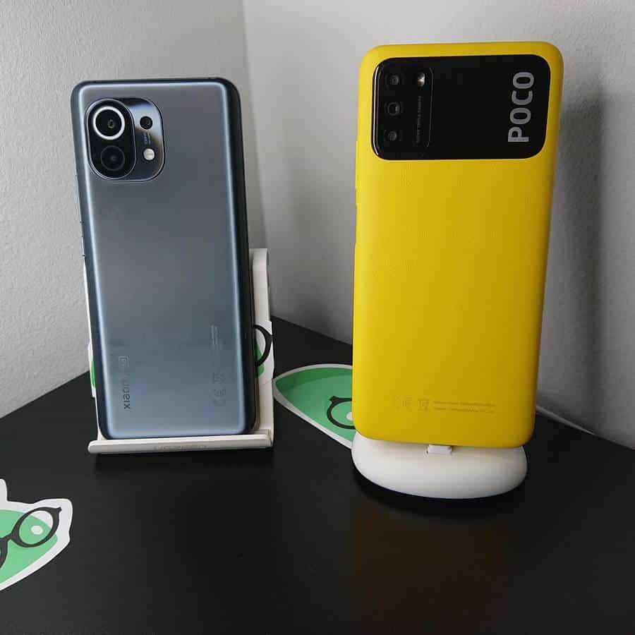 le Xiaomi Mi 11 et le Poco M3