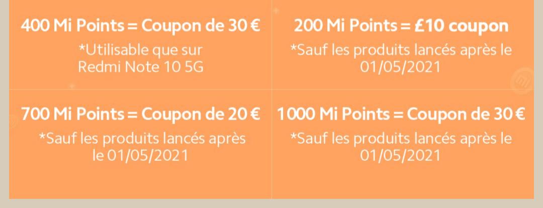 Mi-points, Bon plan – distribution de mi-points