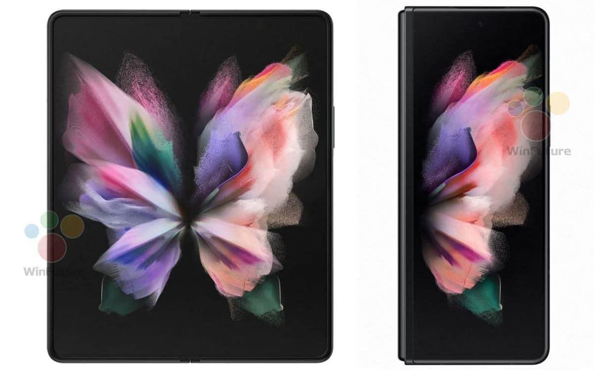 samsung galaxy z fold 3, Samsung Galaxy Z Fold 3 : des rendus officiels confirment plusieurs rumeurs