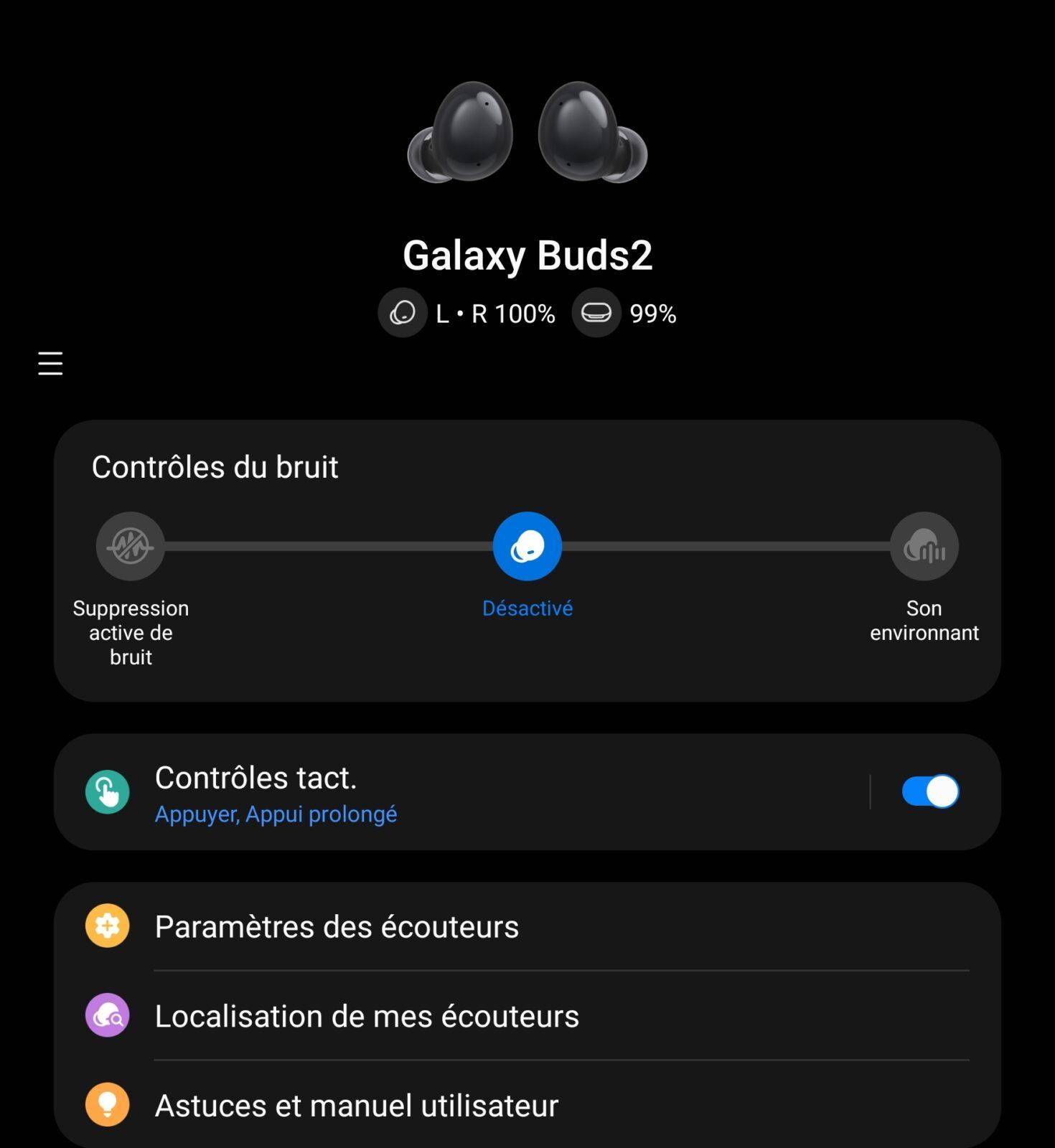 Galaxy Buds 2 - Fonctionnalités 1