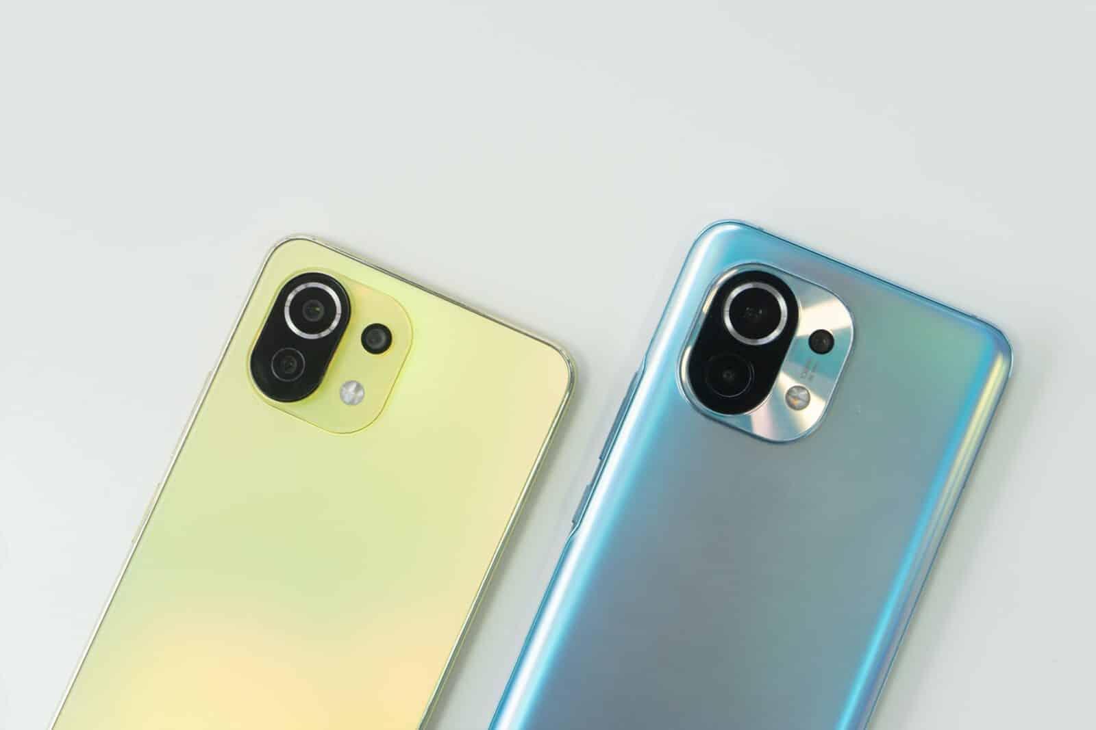 Les smartphones Xiaomi Mi 11 et Mi 11 Lite