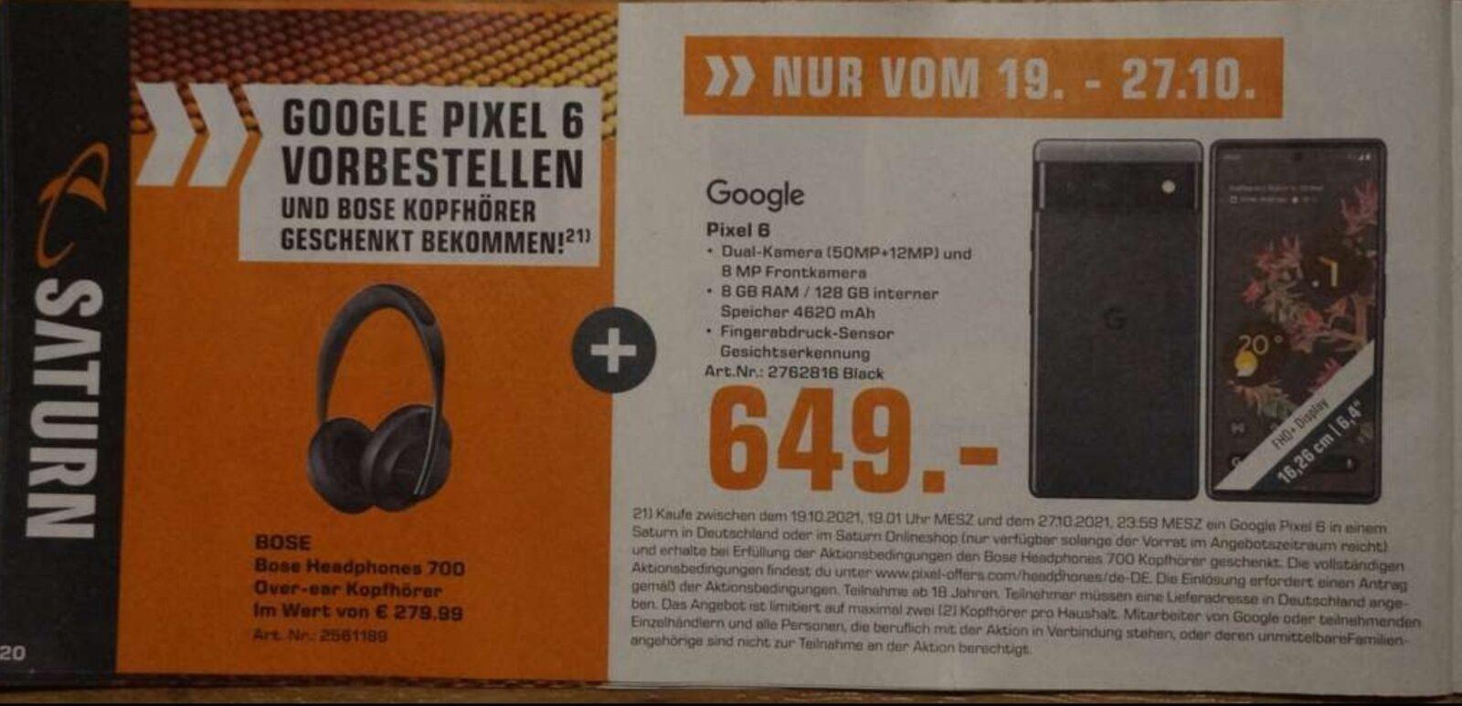 prix-pixel-6-saturn-offre-de-lancement